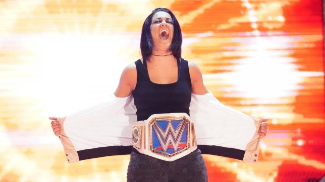 WWE SmackDown women's champion Bayley makes her entrance