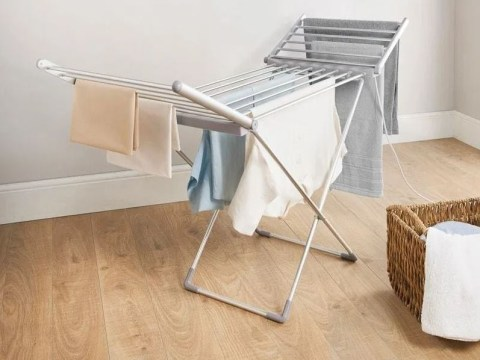 B&M slashes the price of its heated clothes airer and it's now just £1