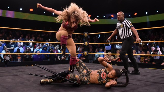 WWE Raw superstar Charlotte Flair takes out Bianca Belair on NXT