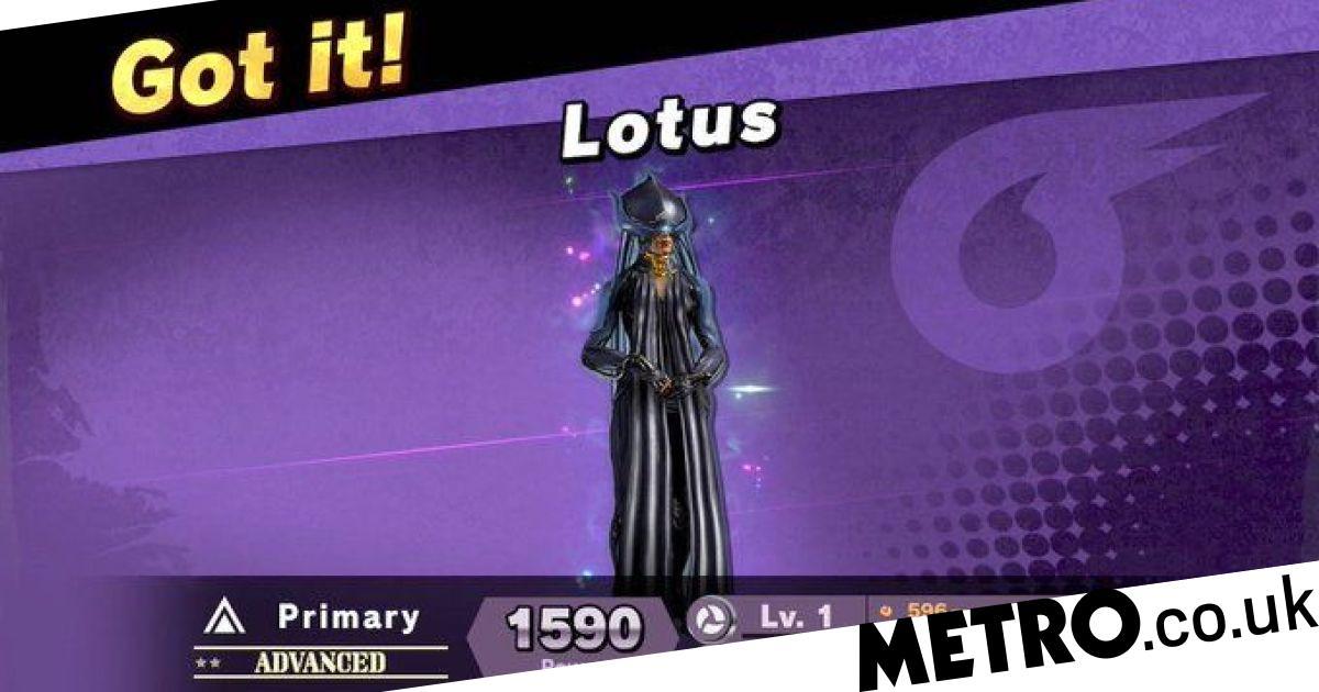 Warframe character Lotus gets Super Smash Bros. Ultimate spirit this week