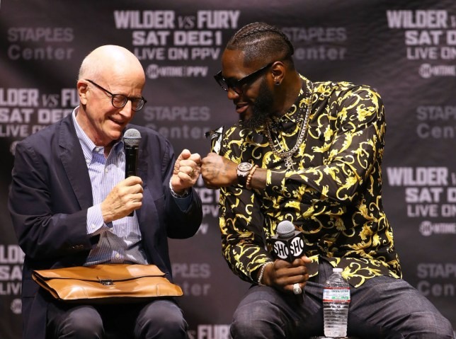 Shelly Finkel and Deontay Wilder