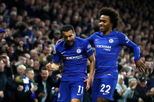 Chelsea stars Pedro and Willian