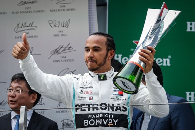 Lewis Hamilton won last year's Chinese Grand Prix held in Shanghai