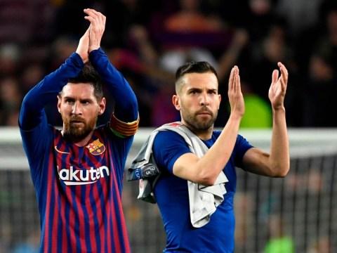 Jordi Alba joins Barcelona captain Lionel Messi in slamming Eric Abidal