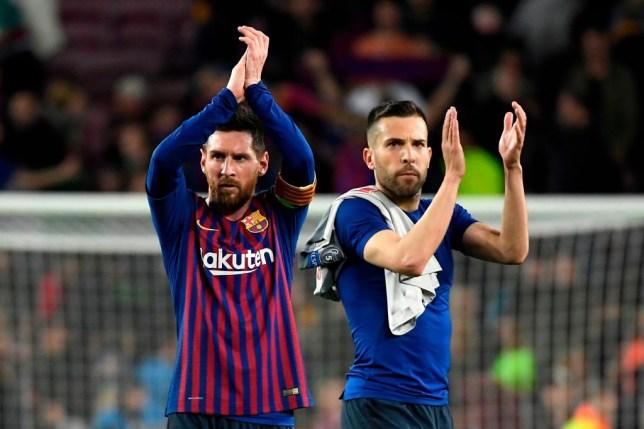 Jordi Alba has joined Lionel Messi in criticising Barcelona chief Eric Abidal