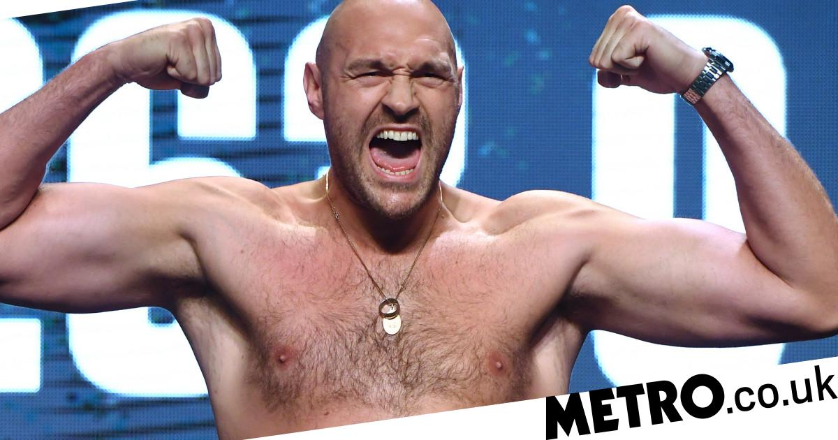 Tyson Fury weighs in three stone heavier than Deontay Wilder