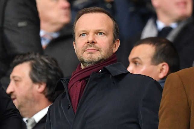 Ed Woodward attends a Manchester United game