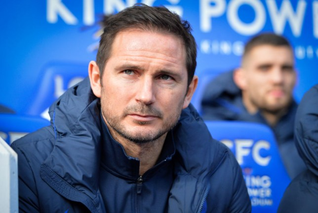 Manager of Chelsea Frank Lampard before the Premier League match between Leicester City and Chelsea FC at The King Power Stadium on February 1, 2020 in Leicester,