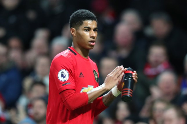 Marcus Rashford of Manchester United is substituted during the Premier League match between Manchester United and Norwich City at Old Trafford on January 11, 2020 in Manchester, United Kingdom.