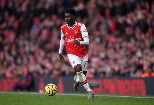 Arsenal winger Bukayo Saka