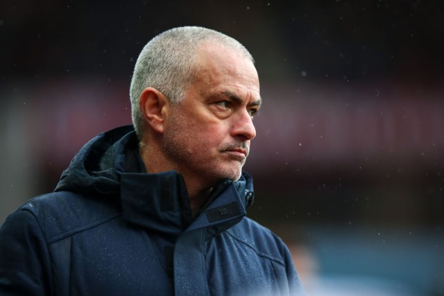 Former Chelsea and Manchester United manager Jose Mourinho, the head coach of Tottenham Hotspur, during the Premier League match between Aston Villa and Tottenham Hotspur at Villa Park on February 16, 2020 in Birmingham, United Kingdom