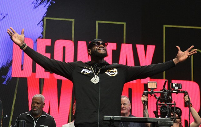 Deontay Wilder soaks up a hostile reception at the weigh-in for his fight with Tyson Fury