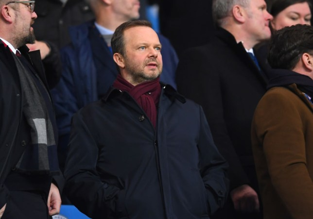 Ed Woodward, executive vice-chairman of Manchester United looks on from the crowd prior to the Carabao Cup Semi Final match between Manchester City and Manchester United at Etihad Stadium on January 29, 2020 in Manchester, England.