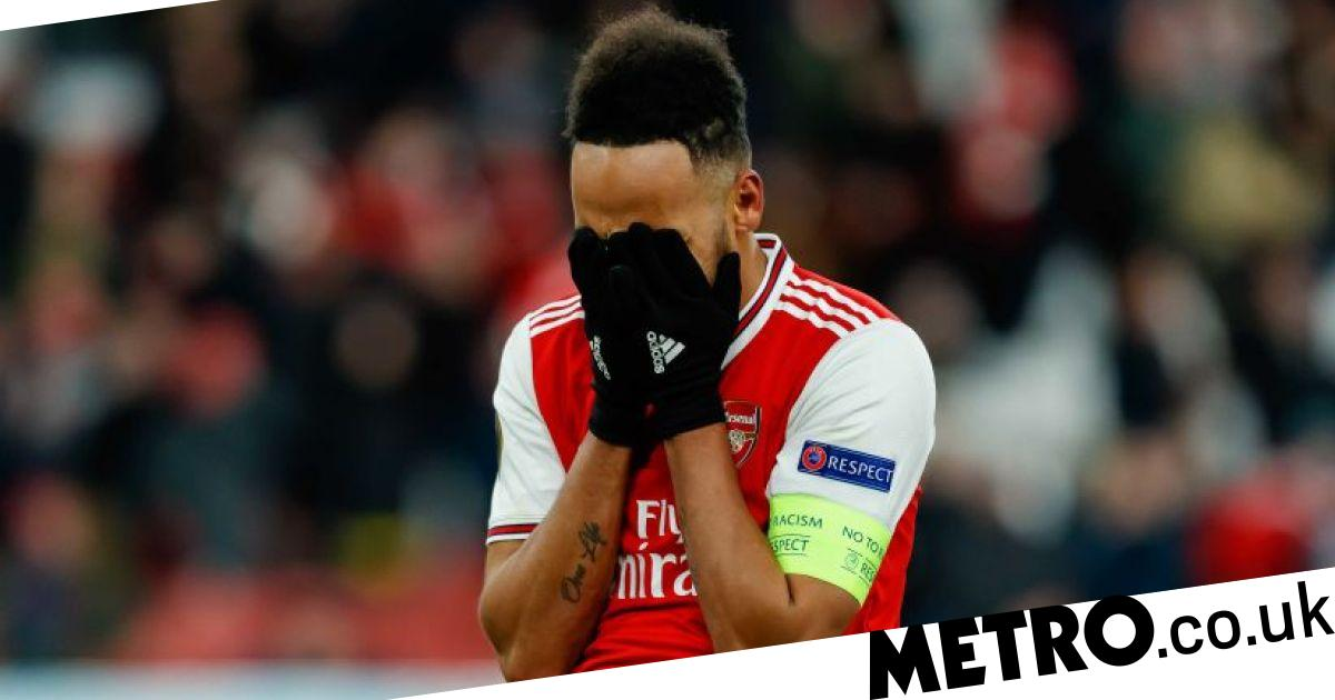 Aubameyang fights back tears as Arsenal are knocked out by Olympiacos