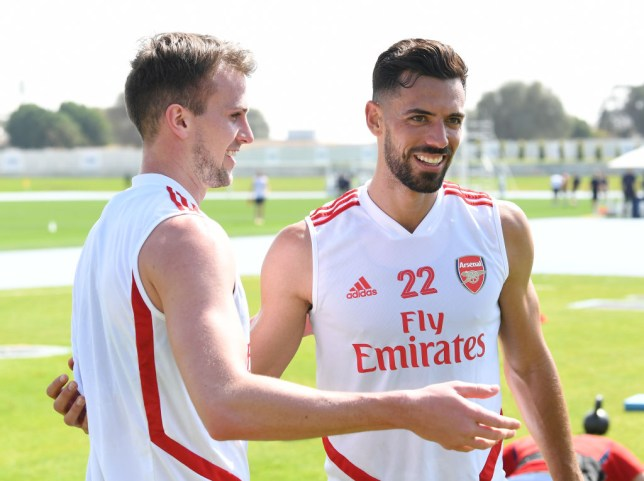 Pablo Mari has been training with Arsenal at their warm-weather training camp in Dubai