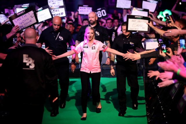 Fallon Sherrock lost to Glen Durrant on her Premier League Darts debut