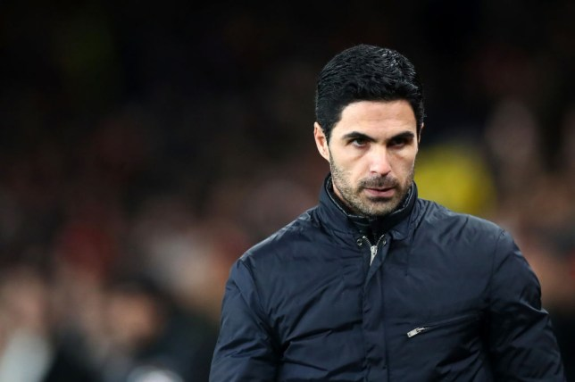 Mikel Arteta before a game for Arsenal