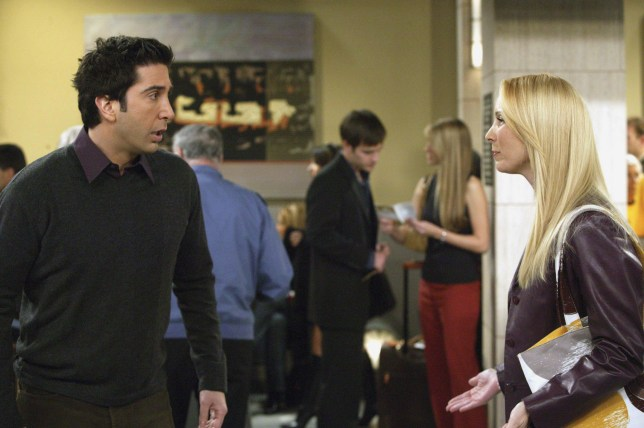 Ross and Phoebe on Friends
