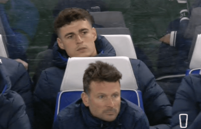 Kepa Arrizabalaga was left on the Chelsea bench against Man Utd