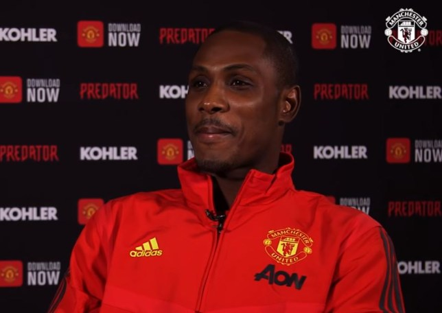 Odion Ighalo will be with Manchester United until the end of the season