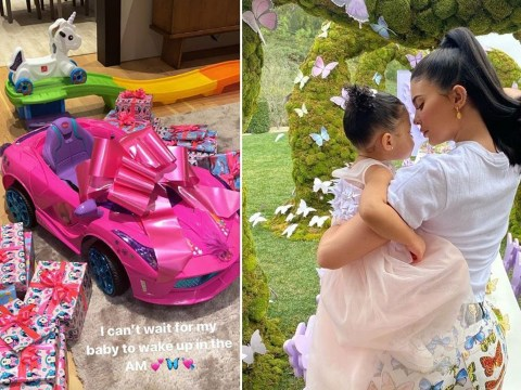 Kylie Jenner gifts daughter Stormi with mini pink car for second birthday and we are so not jealous