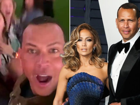 Alex Rodriguez dancing his heart out to his fiancée Jennifer Lopez's Super Bowl performance is all of us