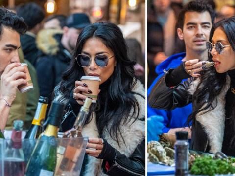 Nicole Scherzinger and Joe Jonas slurp oysters on fun-filled day at Borough Market