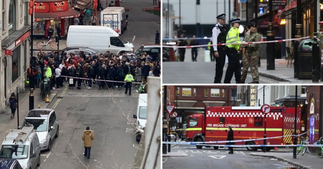 Videos and pictures shared online show officers cordoning off the area