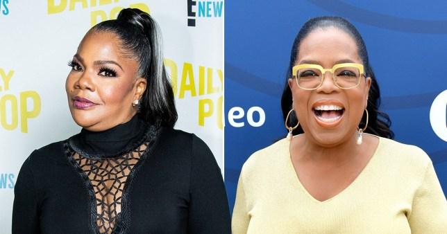 Mo'Nique and Oprah Winfrey