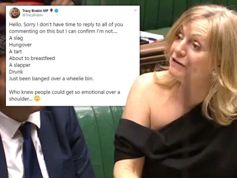 MP says she was not 'banged over a wheelie bin' after being trolled for exposing shoulder