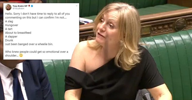 Tracy Brabin had the perfect response to trolls who said she looked like a 'tart' for wearing a one shoulder dress (Picture: Parliament TV/Twitter/TracyBrabin)