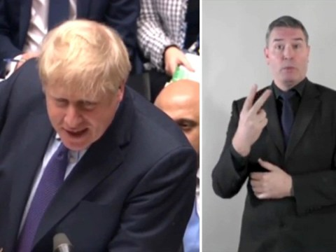 PMQs has sign language interpreter for first time in history