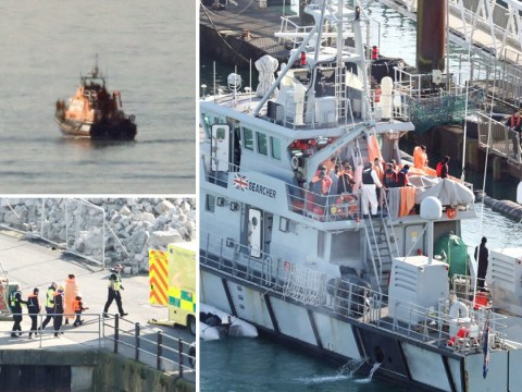 90 migrants rescued off Kent coast in largest ever interception