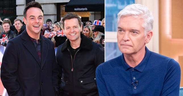 ant and dec and phillip schofield