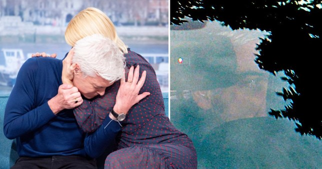 Phillip Schofield arrives home