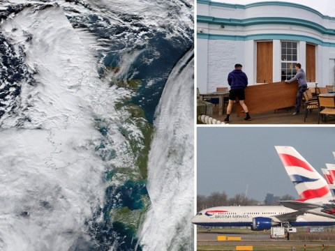 Hundreds of flights cancelled as Storm Ciara barges towards UK at 80mph