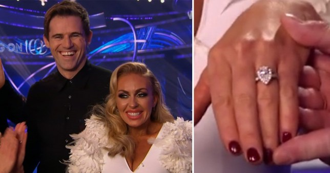 Brianne Delcourt and Kevin Kilbane show off engagement ring on Dancing on Ice