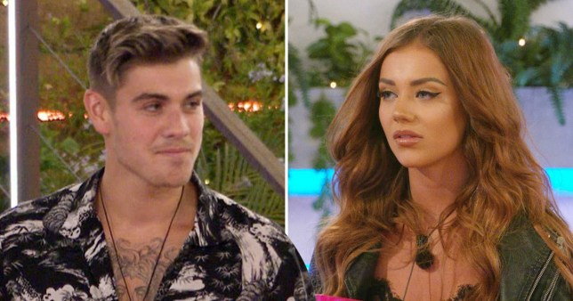 Love Island's Natalia and Luke