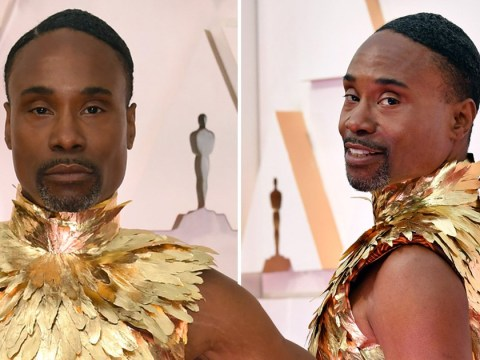 Billy Porter channels his inner phoenix as he arrives at the Oscars dripping in gold