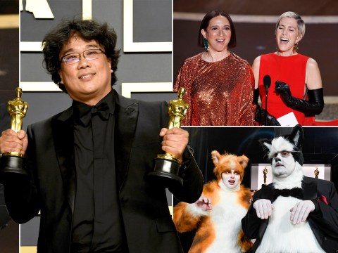 From Joaquin Phoenix's bizarre acceptance speech to James Corden and Rebel Wilson dressing as Cats, all the best moments from the Oscars 2020