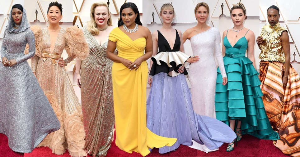 Some of the looks on the red carpet at the Oscars