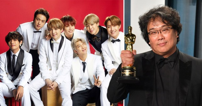 Image result for bts congratulates parasite on oscar win