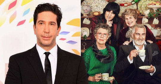 David Schwimmer The Great British Bake Off