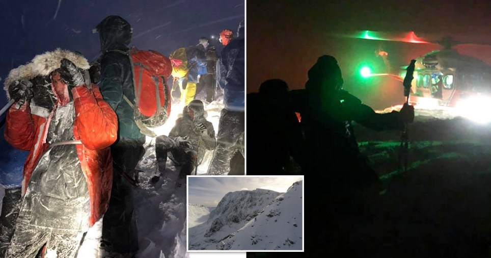 Utter idiots wearing trainers rescued after trying to climb Ben Nevis in -20C winds