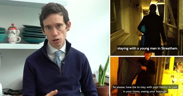 Rory Stewart wants to sleep on your sofa Picture: roryforlondon METROGRAB