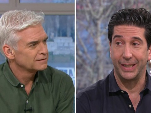 David Schwimmer congratulates This Morning's Phillip Schofield on Friends 'appearance'