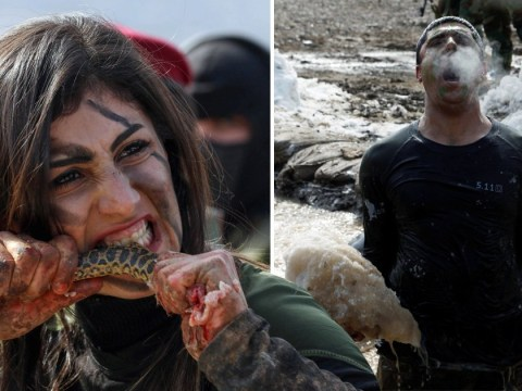 Kurdish soldiers tear apart snakes and rabbits with teeth for graduation ceremony