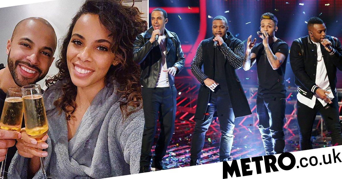 Rochelle Humes and husband Marvin toast to JLS reuniting