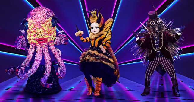 The Masked Singer Octopus Queen Bee and Hedgehog