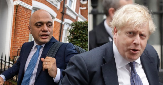 Sajid Javid is said to have had a spat with Boris Johnson's advisor Dominic Cummings